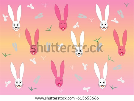 seamless bunnies pattern
