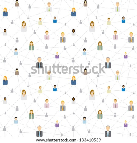Seamless business social network pattern