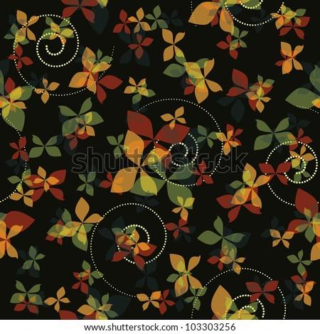 Seamless butterflies background eps10