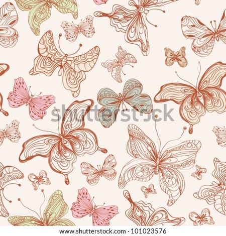 Seamless butterfly background,vector  illustration