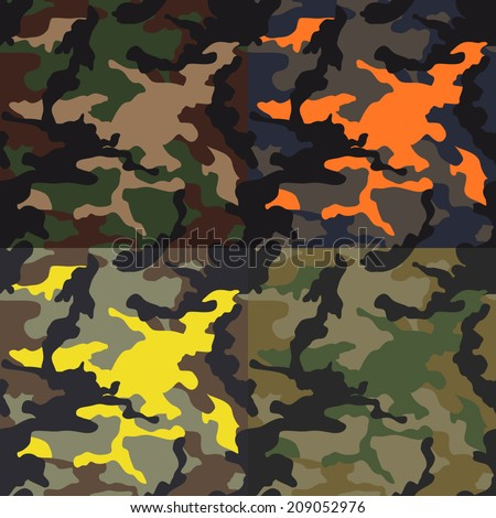 seamless camouflage pattern in