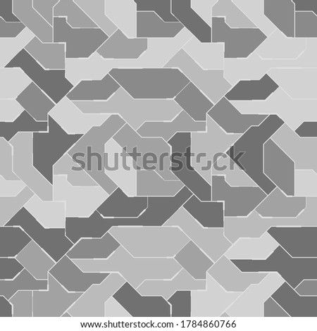 Seamless camouflage pattern. Military fabric design for army, hunting, paintball or other. Abstract vector background. Stock photo ©