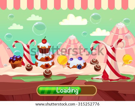 seamless candyland vector