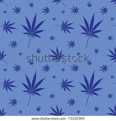 seamless cannabis leaf pattern - illustration