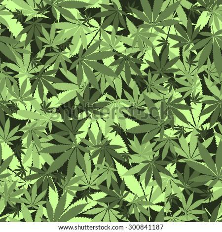seamless cannabis leaves