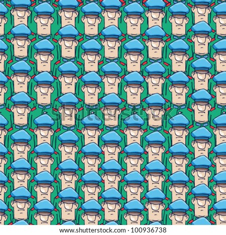 seamless cartoon army. vector soldiers
