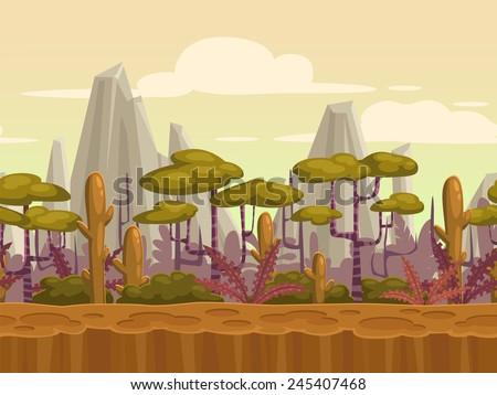 seamless cartoon nature