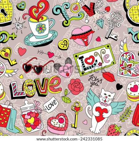 seamless cartoon vector pattern