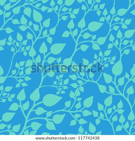Seamless casual pattern with leaves