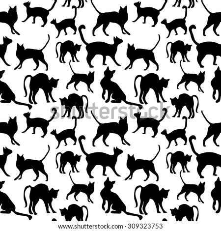 seamless cat pattern animals
