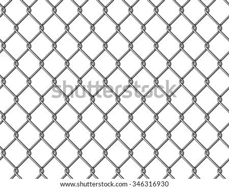 Seamless chain link fence background.