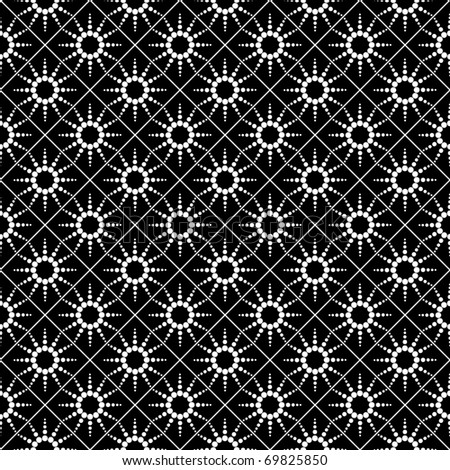 Seamless checked pattern with dotted design. Vector illustration.