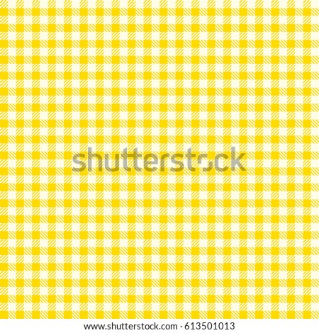 Seamless checkered vector pattern. Seamless checkered vector pattern. Coarse vintage yellow plaid fabric texture. Abstract geometric background. Tablecloth for picnic Texture.