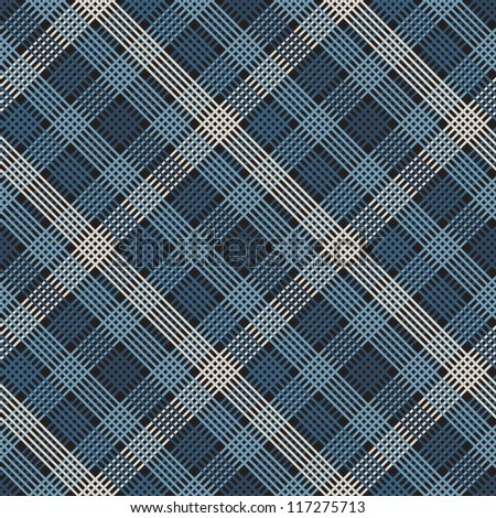 Seamless checkered vector pattern (tartan)