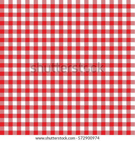 Seamless checkered vector pattern. Vintage red plaid fabric texture. Abstract geometric background. Vintage red plaid fabric texture. Tablecloth for picnic Texture. Seamless checkered pattern. RED.