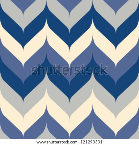 Seamless chevron background pattern with pointed and rounded edges