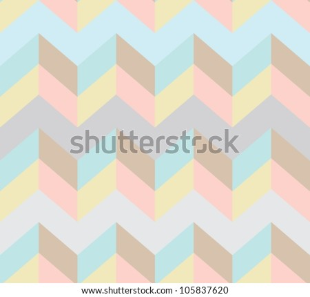 Seamless chevron pattern, beautiful vector illustration - stock vector