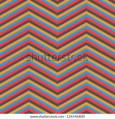 Seamless chevron pattern in warm color. Abstract zig zag background. Vector illustration