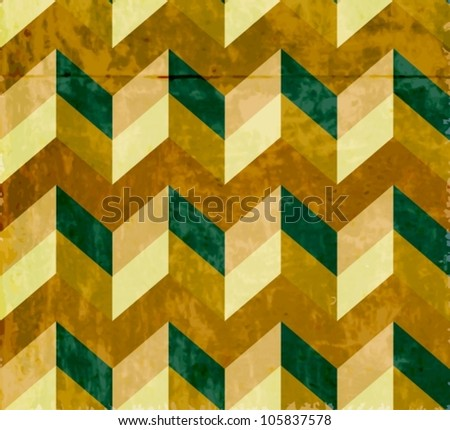 Seamless chevron pattern with old paper texture, beautiful vector illustration