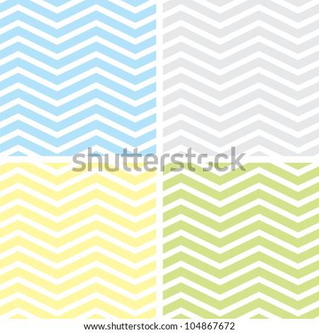 Seamless Chevron Patterns - Shutterstock ID 104867672