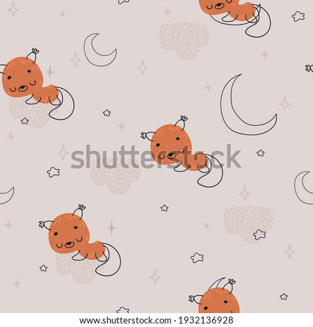 seamless childish pattern with