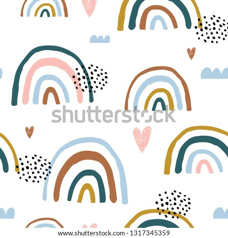 seamless childish pattern with