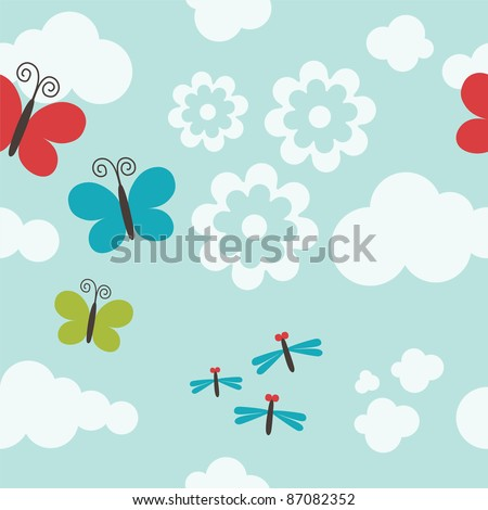 seamless childlike pattern. vector illustration
