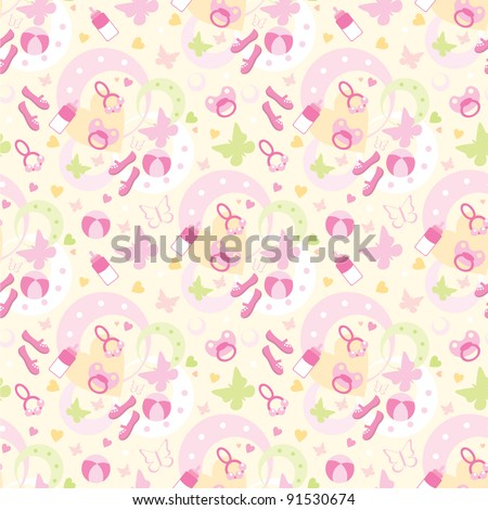 Seamless children's things pattern. vector