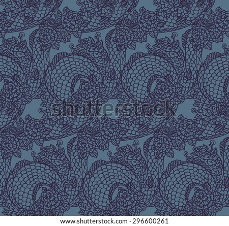 seamless chinese dragon texture