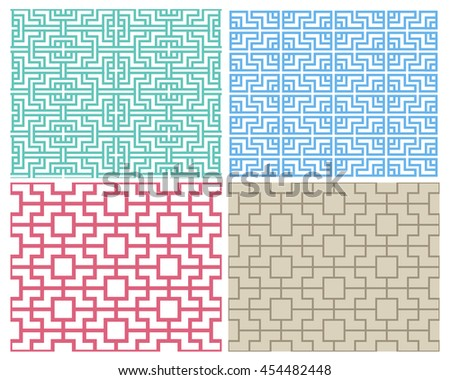 seamless chinese pattern in
