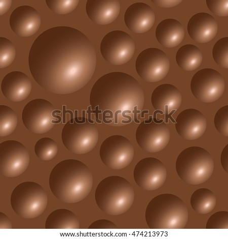 seamless chocolate bar bubbles