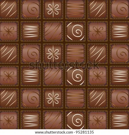 Seamless chocolate box pattern