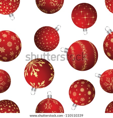 Seamless christmas and new year elements background. Vector illustration.