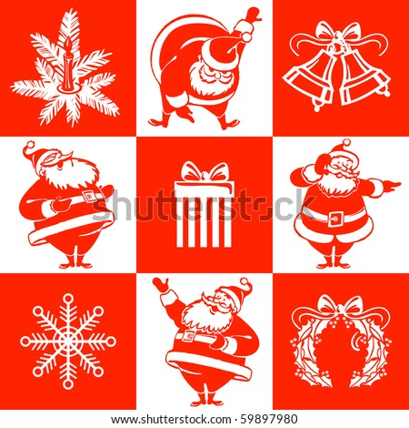 seamless christmas pattern in