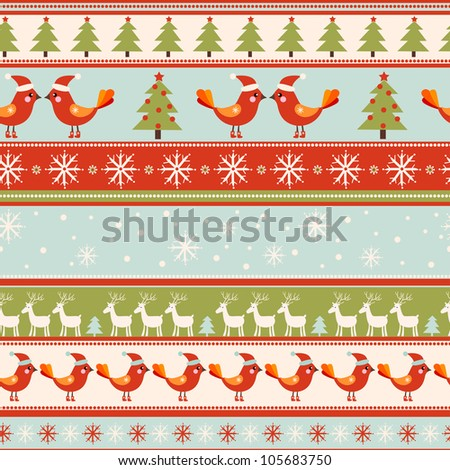 seamless Christmas pattern .seamless pattern with New Year's.
