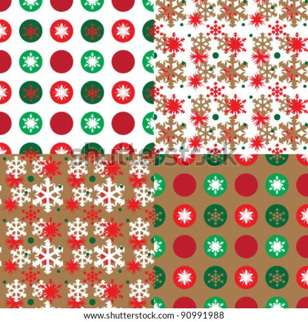 seamless christmas pattern with christmas balls and snowflakes
