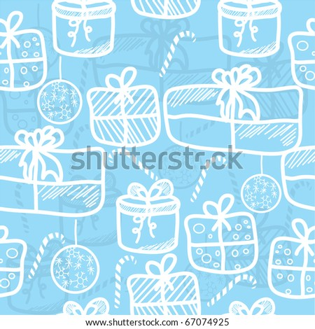 seamless christmas pattern with gifts. background