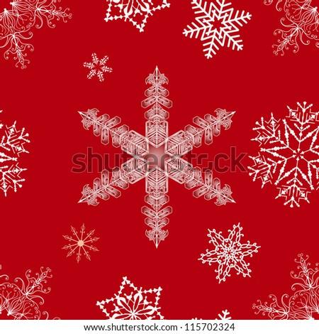Seamless  Christmas snowflakes. EPS 8 - stock vector