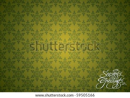 Seamless Christmas Snowflakes Wallpaper - stock vector