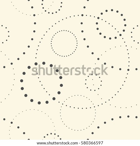 Seamless Circle Pattern. Abstract Monochrome Dot Background. Vector Regular Minimalistic Graphic Design