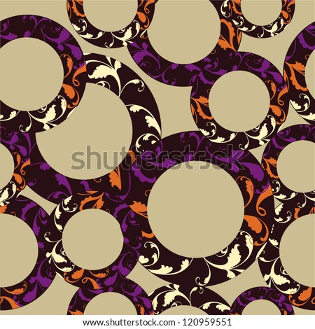 Seamless circle  pattern, geometric background in vector