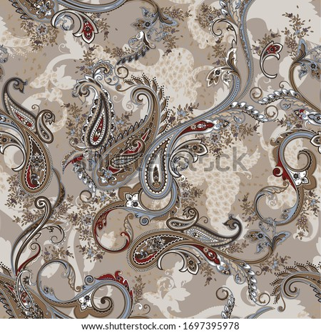 seamless classic paisley pattern. paisley background on vector