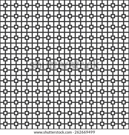 Seamless classical architecture square pattern vector