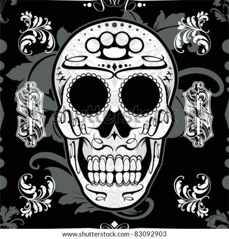 seamless classical skull vector