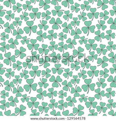 Seamless clover pattern. Vector background for St. Patrick's Day