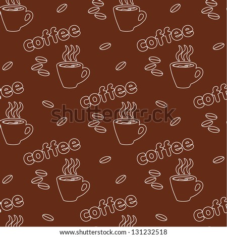 Seamless coffee pattern. vector