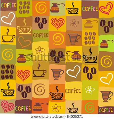 seamless coffee wallpaper. Vector illustration