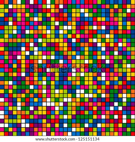Seamless color mosaic background. Vector illustration.