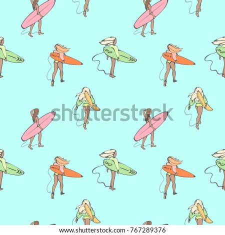 seamless color pattern with