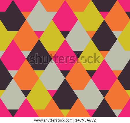 Seamless color vector geometric pattern
